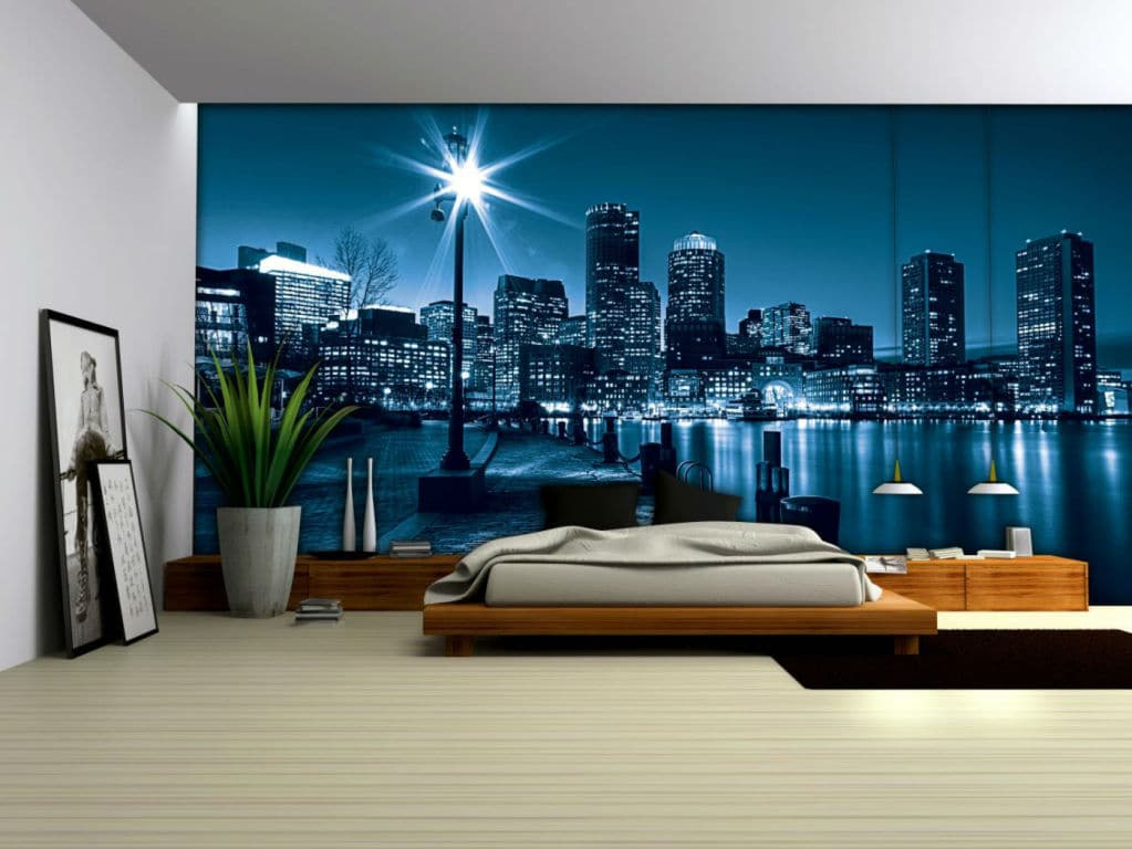 change the look of your lobby or office with a wall mural. Black Bedroom Furniture Sets. Home Design Ideas