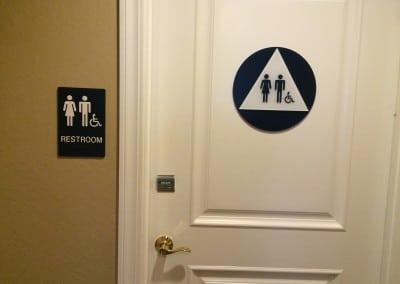 ADA Unisex Door Signage