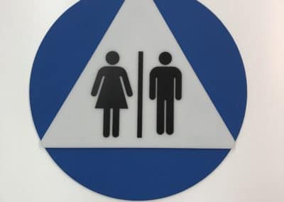CA All-gender Door Sign