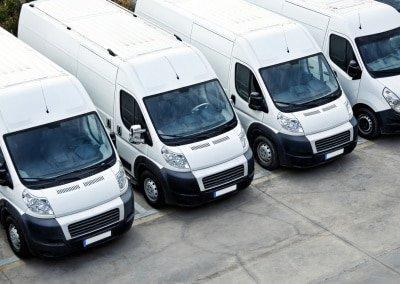 fleet of vans - blank