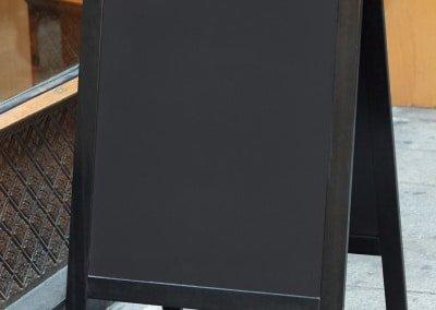Restaurant menu blank board on the street