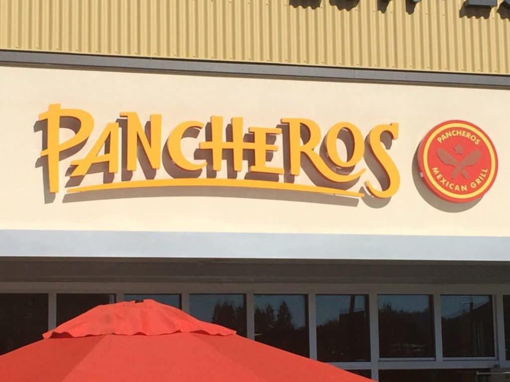 Channel Letters Sign for Pancharos in Walnut Creek