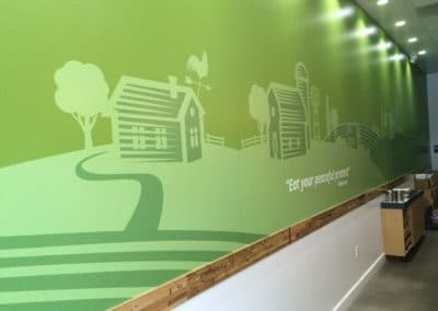 Wall Wrap by Sequoia Signs at Organic Coup