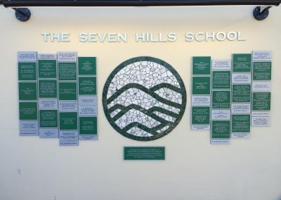 Seven Hills School Donor Wall Signage