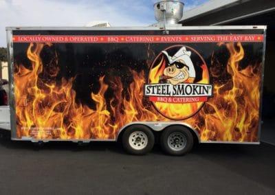 Steel Smokin' BBQ Custom Trailer Wrap