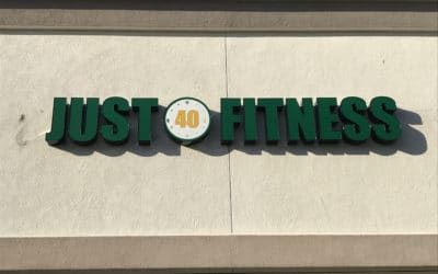 Channel Letter Sign for Just 40 Fitness in Pleasant Hill