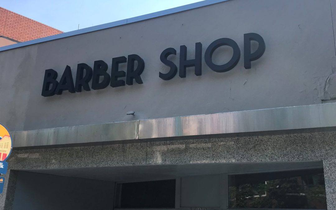 Channel Letter Signs for Str8 Edge Barber in Walnut Creek