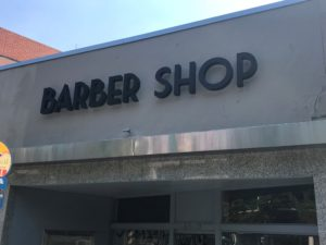 Channel Letter Sign for Barber shop in Walnut creek