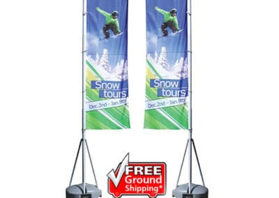 Mondo 13ft Flag Double Sided