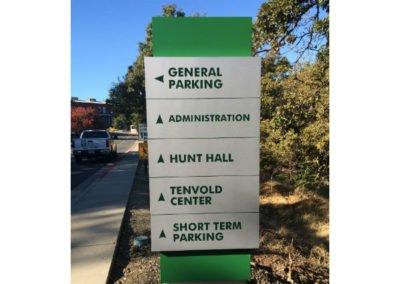 outdoor directional wayfinding campus signs