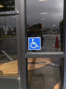 ADA sign - handicap accessible