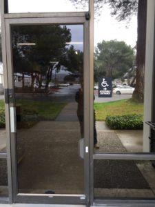 ADA sign - handicap accessible door