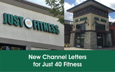 New Channel Letters in Concord, CA for Just 40 Fitness