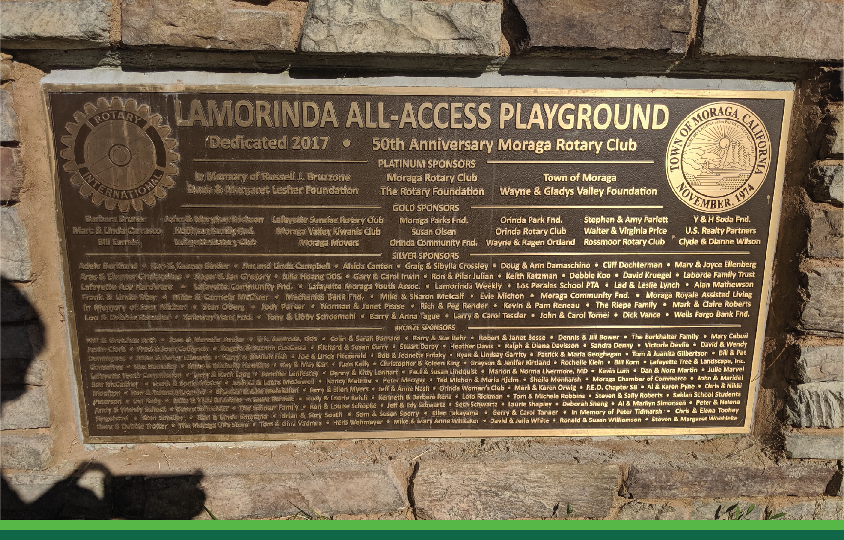 Outdoor Signage at Lamorinda All Access Playground