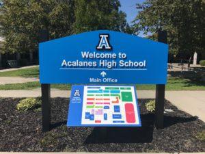 Acalanes High School Sign