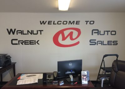 Wall graphics for auto dealership