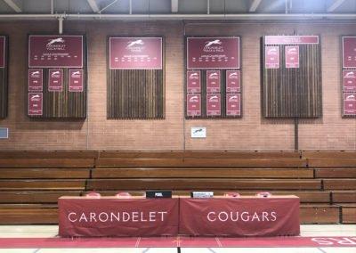 Carondelet School Gym banners