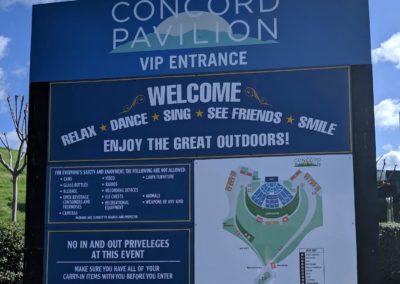 Concord Pavilion Sign - Event Venue
