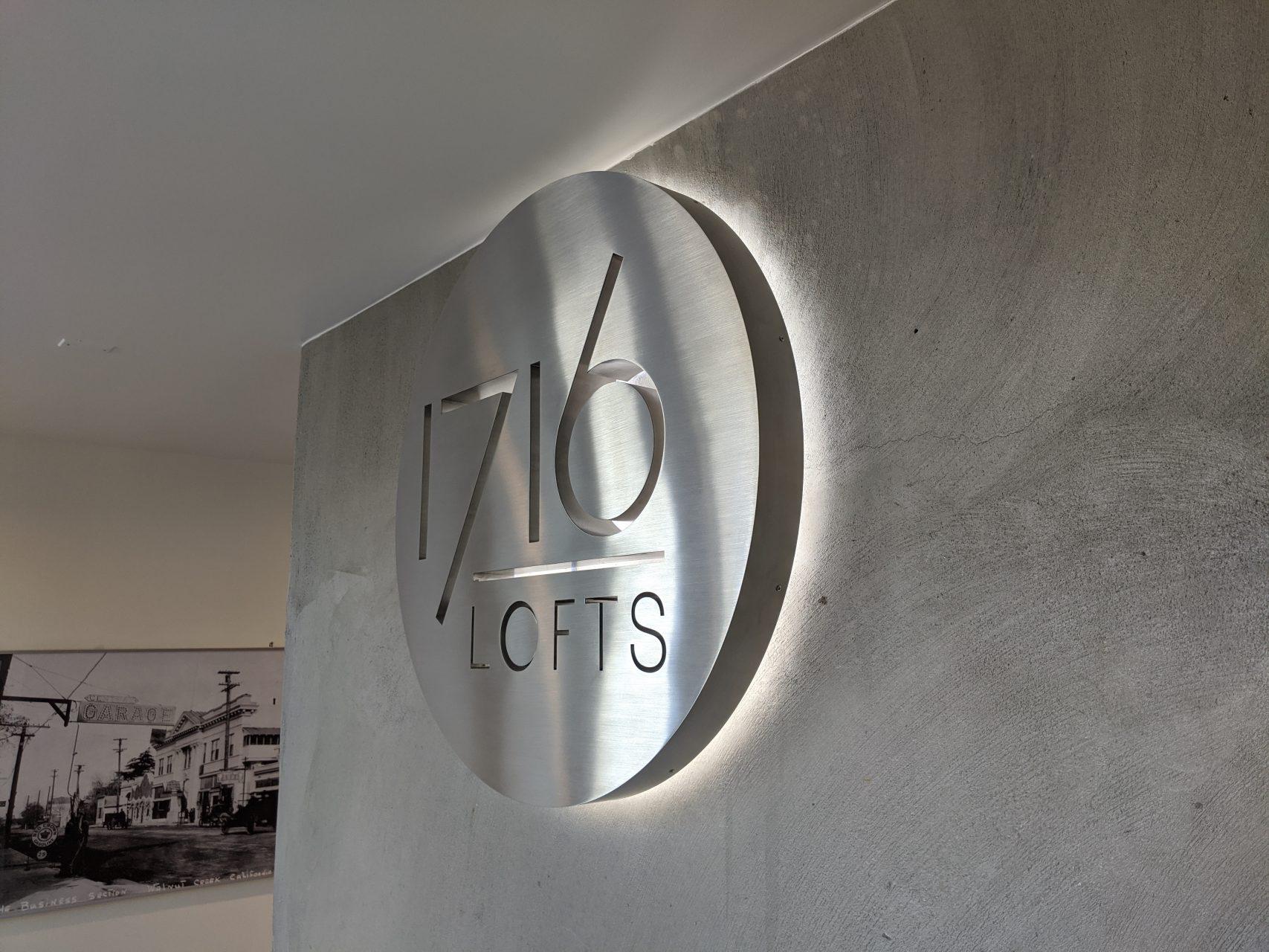 1716 Lofts Lobby Sign