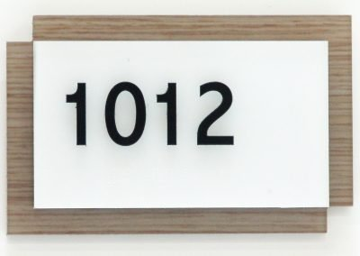 White and Wood Theme Room ID Quality ADA Compliant Signs - Sequoia Signs Walnut Creek