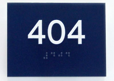 Navy Blue Room ID Quality ADA Compliant Signs - Sequoia Signs Walnut Creek