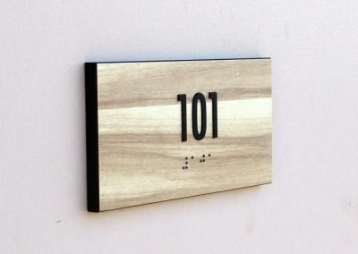 Wooden Room ID ADA Compliant Signs - Sequoia Signs Walnut Creek