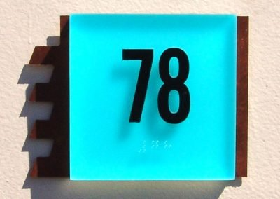 Blue Square Room ID ADA Compliant Signs - Sequoia Signs Walnut Creek