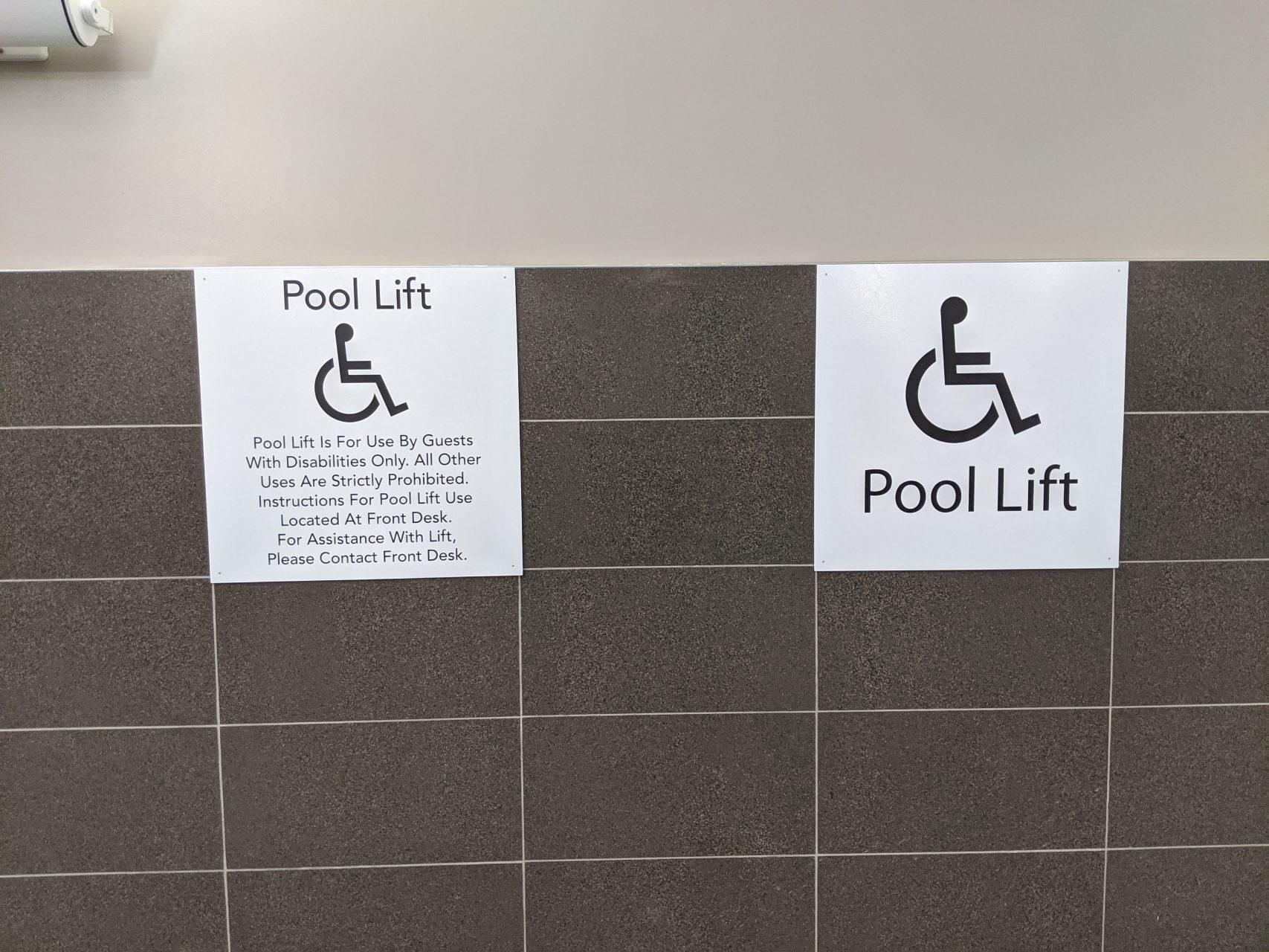 ADA Pool Regulatory Signs - Sequoia Signs Walnut Creek