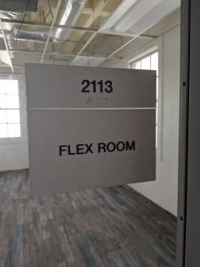 Brushed Silver ADA Compliant Room ID Signs - Sequoia Signs Fairfield CA