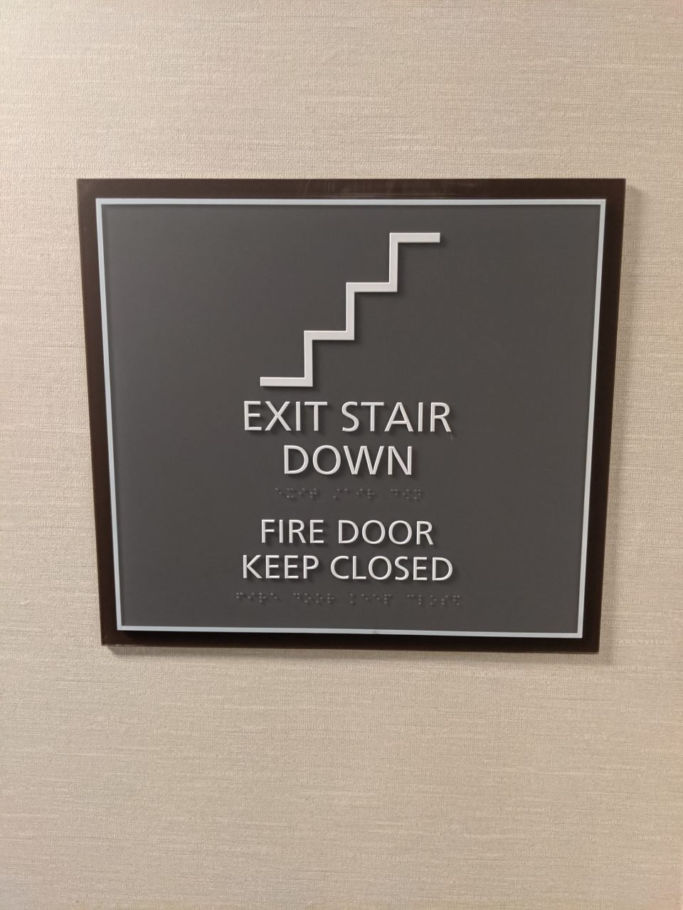 Exit Stair Regulatory Signs - Sequoia Signs Lafayette