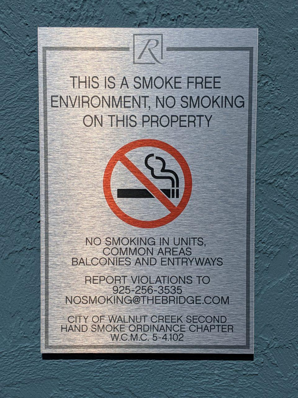 No Smoking Signs - Sequoia Signs Martinez