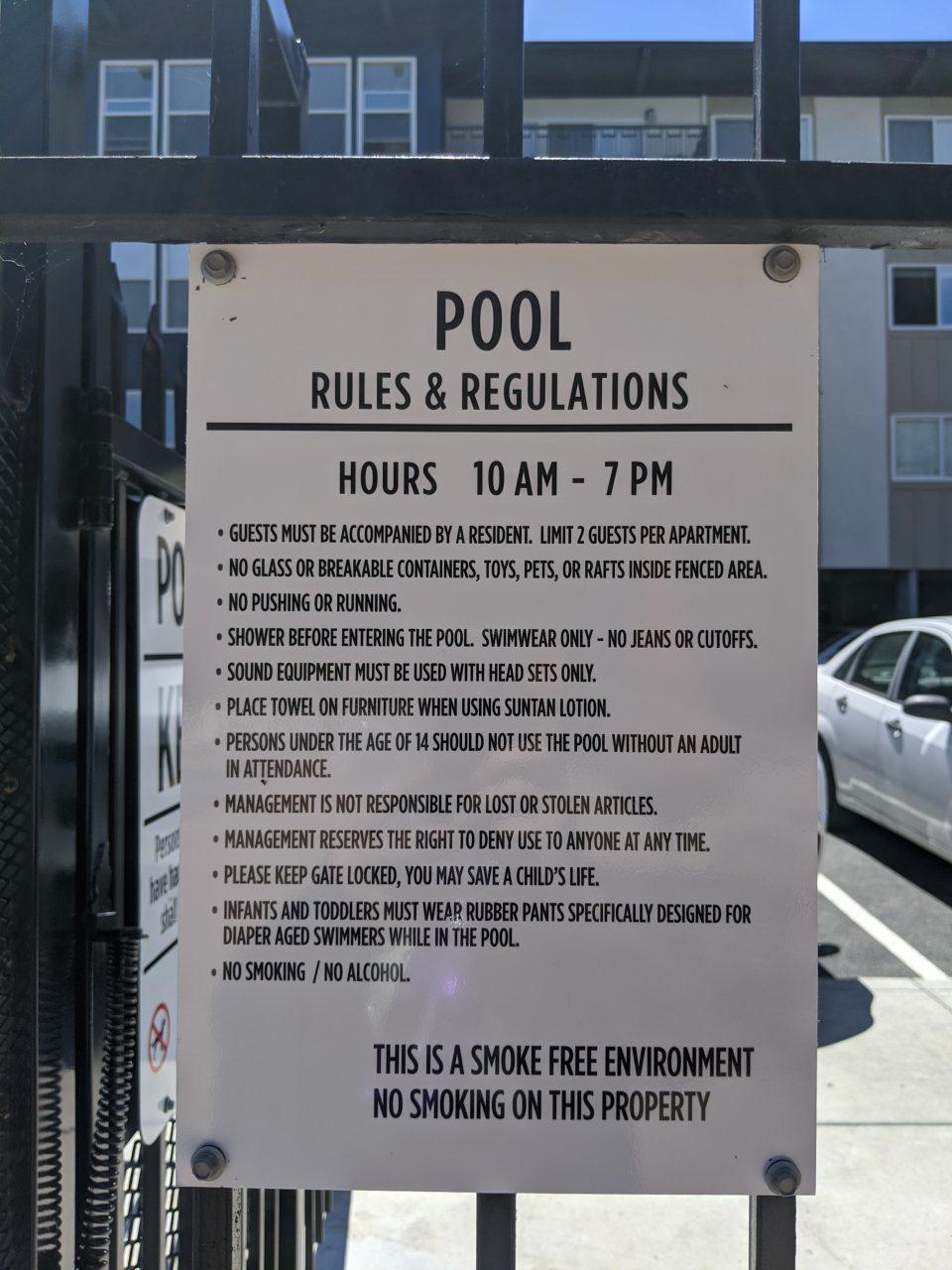 Pool Safety & Regulations Signs - Sequoia Signs Alameda