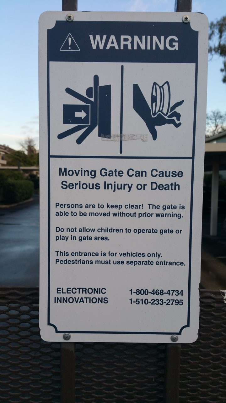 Safety Fence Signs - Sequoia Signs Oakland