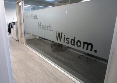 Conference Room Window Graphics - Sequoia Signs Walnut Creek