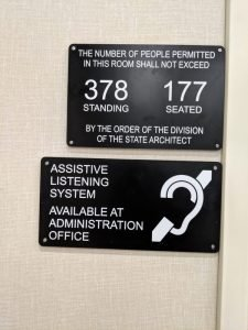 Maximum Occupancy ADA Compliant Signs - Sequoia Signs East Bay Area