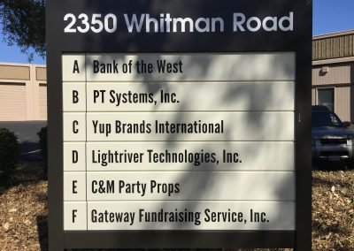 Architectural Signs - Monument Directional Signs - Sequoia Signs Walnut Creek, Orinda